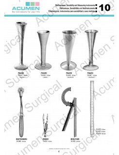 Stethoscopes, Sensibility and Measuring Instruments.