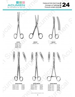 Dressing and Cotton Swab Forceps
