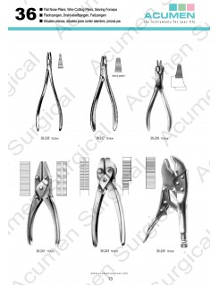 Wire Cutting Pliers and Seizing Forceps
