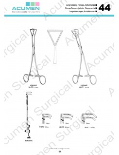 Lung Grasping Forceps, Aorta Clamps