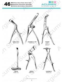 Rib Shears, Sternum Scissors, Sternum Chisel