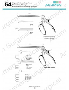 Sphenoid Punches and Rongeur Forceps
