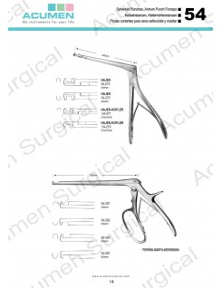 Sphenoid Punches and Antrum Punch Forceps
