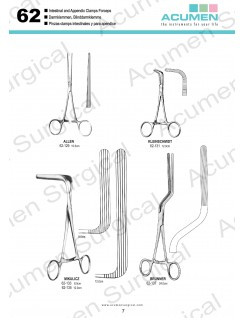 Intestinal and Appendix Clamps Forceps