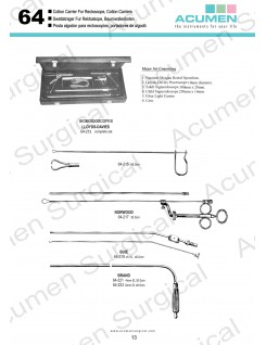 Cotton Carrier for Rectoscope