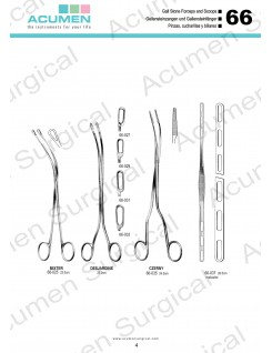 Gall Stone Forceps and Scoops