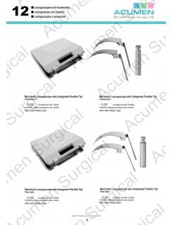 Integrated Flexible Tip Laryngoscope Set